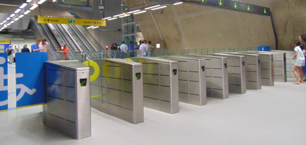 Digicon provides access control gates for new Linha 4 subway station in São Paulo