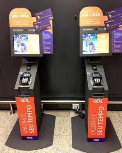 Perto installs check-in terminals for Gol and Visa customers