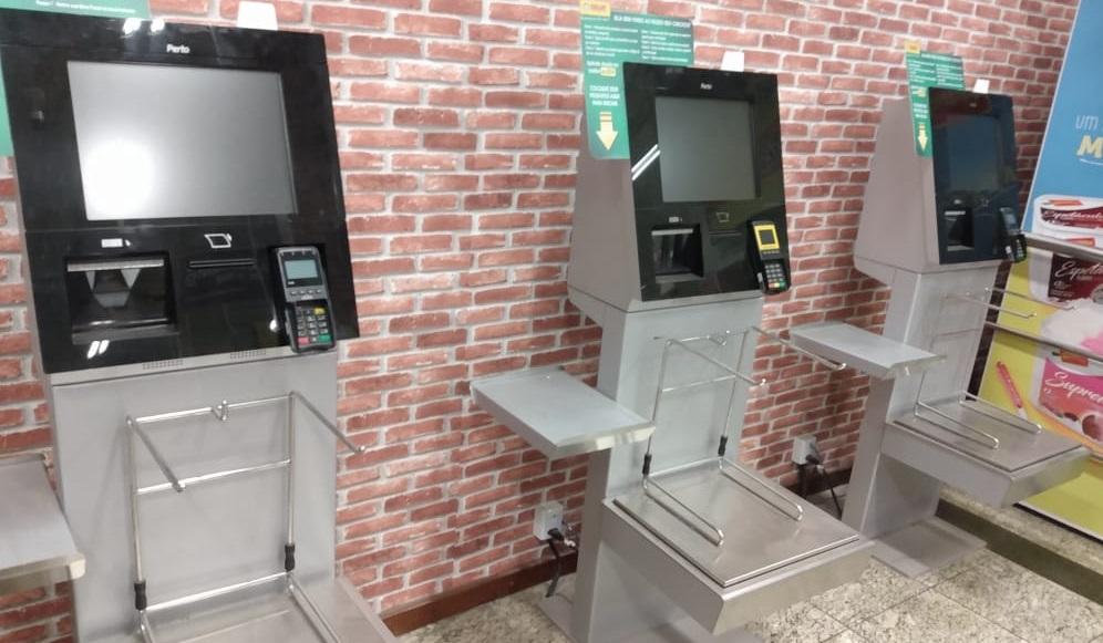Perto instala self-checkout em supermercado no Espírito Santo.