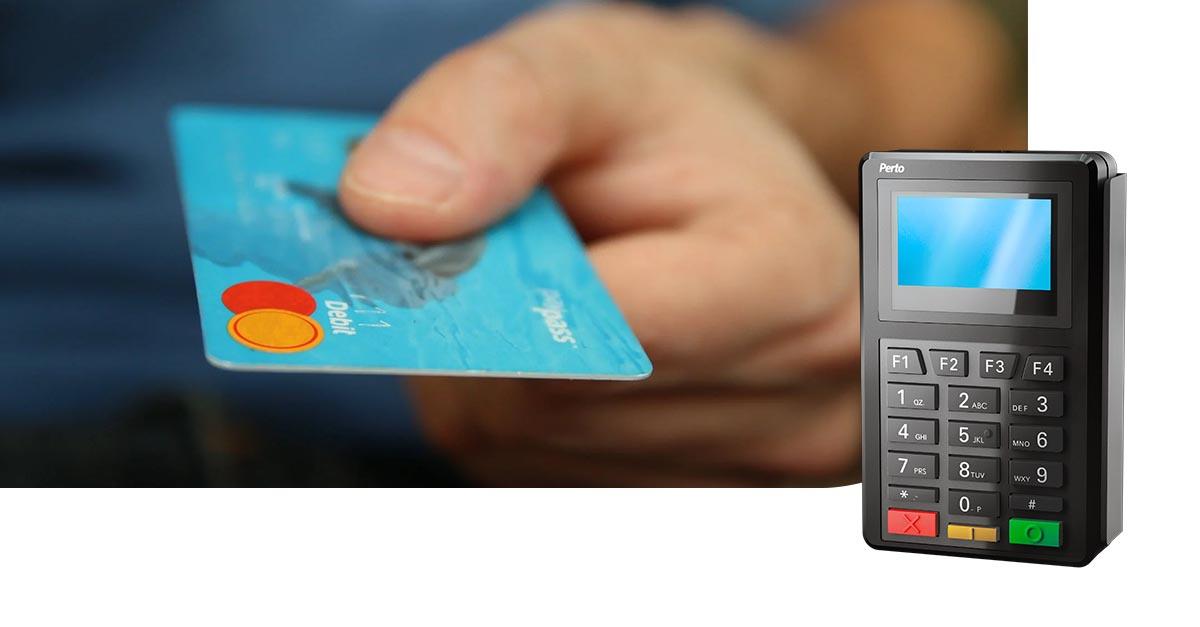 Perto instala milhares de terminais Pinpads em estabelecimentos de pagamentos de contas.